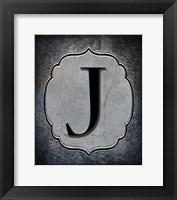 Framed Letter J