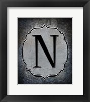 Framed Letter N