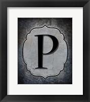 Framed Letter P