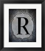 Framed Letter R