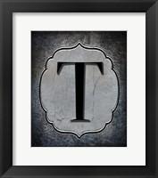 Framed Letter T