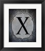 Framed Letter X