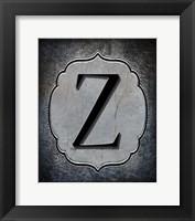 Framed Letter Z