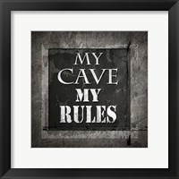Framed Welcome To Man Cave My Rules
