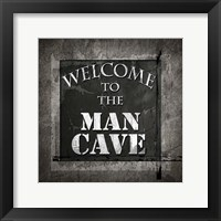 Framed Welcome To Man Cave