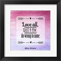 Framed Love All, Trust a Few Magenta Ombre