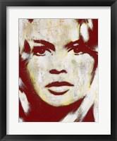 Framed Brigitte Bardot