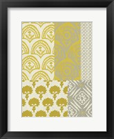 Marigold Patterns II Framed Print