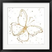 Framed Golden Wings I