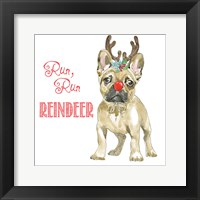 Glamour Pups Christmas V Framed Print