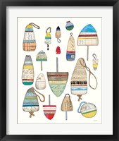 Framed Lobster Buoys on White