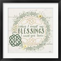 Framed Irish Blessing II