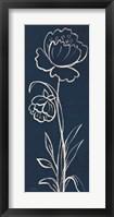 Framed Indigo Floral II