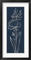 Framed Indigo Floral III