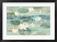 Framed Water Lilies Bright