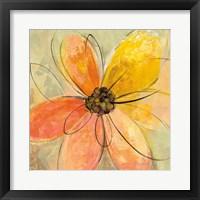 Framed Neon Floral II