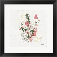 French Romance III Framed Print