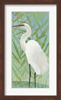 Framed Egret by the Shore II