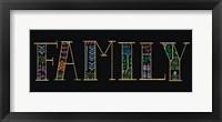 Framed Bright Folklore Family