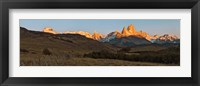 Framed Sunrise over Mt Fitzroy, Patagonia, Argentina