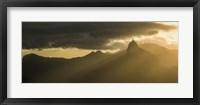 Framed Sugarloaf Mountain at Dusk, Rio de Janeiro, Brazil