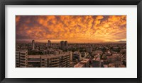 Framed Cityscape at Sunset, Santiago, Chile