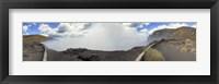 Framed Masaya Volcano Erupting Smoke, Nicaragua