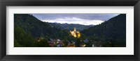 Framed Bran Castle Illuminted, Transylvania, Romania