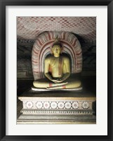 Framed Buddha Statue, Dambulla Cave Temple, Sri Lanka