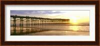Framed Pier at Sunset, Crystal Pier, Pacific Beach, San Diego, California
