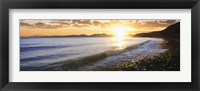Framed Windan Sea Beach at Sunrise, La Jolla, San Diego County, California