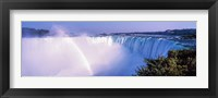 Framed Horseshoe Falls with Rainbow, Niagara Falls, Ontario, Canada
