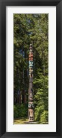 Framed Totem Pole in Forest, Sitka, Southeast Alaska