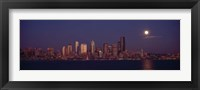Framed Seattle Skyline at Night, Seattle