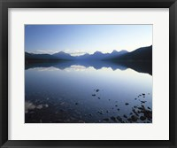 Framed Lake McDonald and the Rocky Mountains, Montana