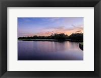 Framed Sunset Over Golf Course in Sarasota, Florida