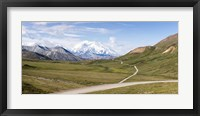 Framed Mount McKinley and Thorofare Pass, Denali National Park, Alaska