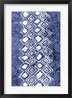 Framed Indigo Primitive Patterns IV