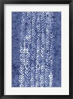 Framed Indigo Primitive Patterns V
