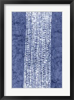 Framed Indigo Primitive Patterns VI