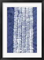Framed Indigo Primitive Patterns VII