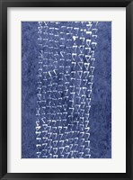 Framed Indigo Primitive Patterns IX