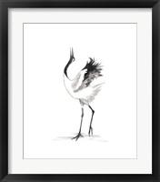 Framed Japanese Cranes IV