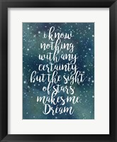Galaxy Quote II Framed Print