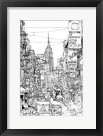 Framed B&W City Scene II