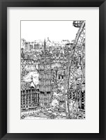 Framed B&W City Scene IV