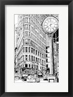 Framed B&W City Scene VII