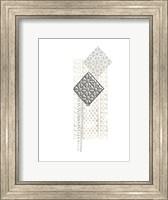 Framed Block Print Composition I