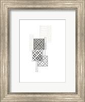 Framed Block Print Composition II