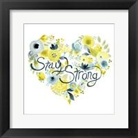 Heartfelt Floral I Framed Print